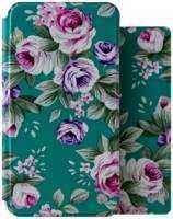 Чехол-книжка + обложка на паспорт FashionTouch для Samsung Galaxy J4, полиуретан, ″розы″