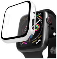 Защитный кейс со стеклом Deppa для Apple Watch 4/5 series, 44 мм (белый)
