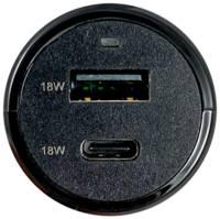 Зарядное устройство автомобильное Bron BRN-CAR-PD18/QC18 TypeC, черное