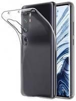 Силиконовая накладка для Xiaomi Mi Note10/Note 10 Pro прозрачная
