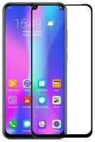 Защитное стекло для Huawei Honor 20 lite полноэкранное черное в техпаке