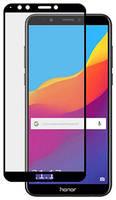 Защитное стекло для Huawei Honor 7A Pro 9D полноэкранное черное в техпаке