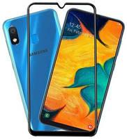 Защитное стекло для Samsung Galaxy A10 полноэкранное черное в техпаке
