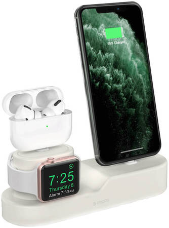 Стенд подставка Deppa для зарядки Apple Watch / iPhone / AirPods, док станция 3-в-1