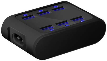 Сетевое зарядное устройство iconBIT FTB SIX, 6xUSB, 4,2 A