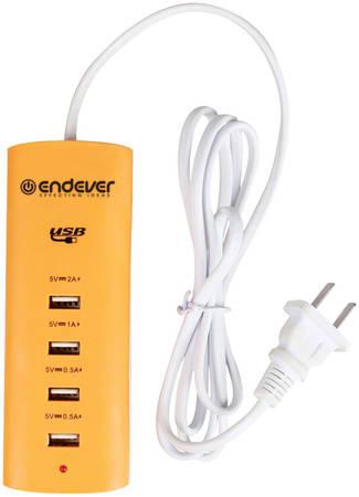 Сетевое зарядное устройство Endever MasterCharger-200, 4xUSB, 5 A
