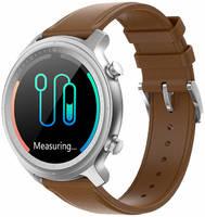 Смарт-часы GARSline Q1 коричневые (кожаный ремешок)