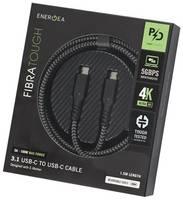Кабель EnergEA FibraTough 3.1 USB-C to USB-C Cable 1,5 м Black