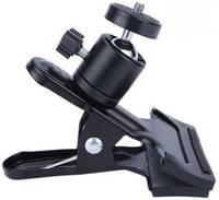Держатель 360 GSMIN BM-16 для телефона или планшета Универсальный настольный держатель с шарниром на прищепке 360 GSMIN BM-16 для телефона или планшета
