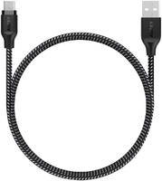 Кабель Aukey Braided Nylon microUSB to USB-A 1.2m Black (CB-AM1) Braided Nylon CB-AM1 microUSB to USB-A 1.2 м