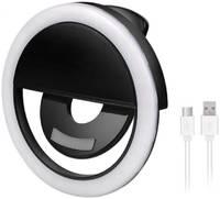 Ёmart Селфи кольцо вспышка, лампа для мобильной фото/видео съемки Selfie Ring Light (Чёрное)
