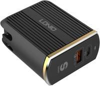 Сетевое зарядное устройство LDNIO A2502C, 1 USB/1 USB Type-C, 3 A