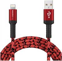 Кабель Amazingthing SupremeLink MFi Bullet Shield USB-iP Red 1.2m 3A