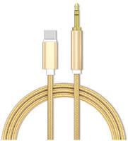 Кабель AUX GSMIN Type-C - Mini Jack 3.5 mm 1м Gold