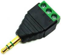 Адаптер - переходник GSMIN RT-24 3.5 мм (M) - 3-pin (F) (Черный)