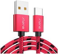 Кабель Raxfly USB - Type-C 1м (Красный)