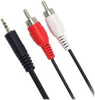 Аудио кабель GSMIN A11 с разъемами (3,5 Jack на 2 RCA штекера 2 RCA на 3,5 мм AUX, стерео)