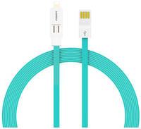 Кабель USB 2 в 1 iPhone lightning + MicroUSB Pisen AL04 плоский