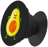 Пластмассовый держатель Krutoff для телефона Попсокет Авокадо сердитый