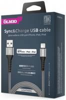 Кабель MFI STRONG USB 2.0 - Lightning, 1.2м, OLMIO