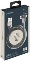 Дата-кабель Deppa USB-A - micro USB, поворотный, 180? черный/72324