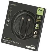 Кабель USB EnergEA FibraTough 3.1 USB-C to USB-C Cable 1м Black