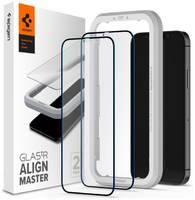Защитное стекло Spigen Glas.tR AlignMaster 2 Pack (AGL01802) для iPhone 12/12 Pro Black