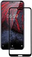 Ёmart Защитное стекло для Nokia 6.1 Plus (Черное)