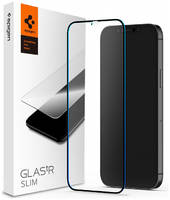 Защитное стекло Spigen Glas.tR Slim Full Cover для iPhone 12/iPhone 12 Pro (Black)