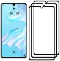 Комплект из 3х стекол Krutoff для Huawei P30 черное