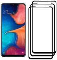Комплект из 3х стекол Krutoff для Samsung Galaxy A20/A30/A50/A30S/A50S черное