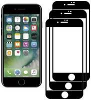 Комплект из 3х стекол Krutoff для iPhone 7/8 черное