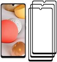 Комплект из 3х стекол Krutoff для Samsung Galaxy A42 5G черное