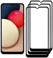Комплект из 3х стекол Krutoff для Samsung Galaxy A02s черное