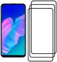 Комплект из 3х стекол Krutoff для Huawei P40 черное