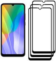 Комплект из 3х стекол Krutoff для Huawei Y6p/Honor 9A черное