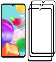 Комплект из 3х стекол Krutoff для Samsung Galaxy A41 черное