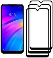 Комплект из 3х стекол Krutoff для Xiaomi Redmi 7/Y3 черное