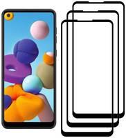 Комплект из 3х стекол Krutoff для Samsung Galaxy A21/A21s черное