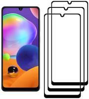 Комплект из 3х стекол Krutoff для Samsung Galaxy A31 черное