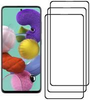 Комплект из 3х стекол Krutoff для Samsung Galaxy A51/A51 5G/M31s черное
