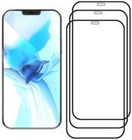 Комплект из 3х стекол Krutoff для iPhone 12 Pro Max (6.7″) черное