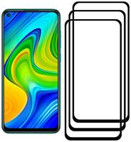 Комплект из 3х стекол Krutoff для Xiaomi Redmi Note 9/9 5G/10X 4G черное