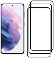 Комплект из 3х стекол Krutoff для Samsung Galaxy S21 5G черное