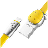 Кабель Rock MicroUSB (Chinese Zodiac) 1m (Cow-Yellow)