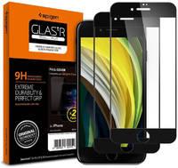 Защитное стекло Spigen Glas.tR Slim Full Cover (AGL01315) для iPhone 7/8/SE 2020 (Black) Glas.tR Slim Full Cover 2pcs для iPhone 7/8/SE 2020