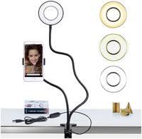 Кольцевая лампа Circle LED Lamp CLL921B, 9 см,