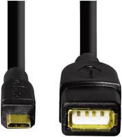 Кабель Hama microUSB 0,15м Black