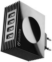 Сетевое зарядное устройство CELLULAR LINE ACHUSBQUAD4AK, 4xUSB, 4,2 A