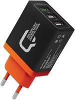 Сетевое зарядное устройство QUMO Quick Charge, 3 USB, 3,1 A, (24350)